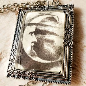 Crescent Man in the Moon Necklace